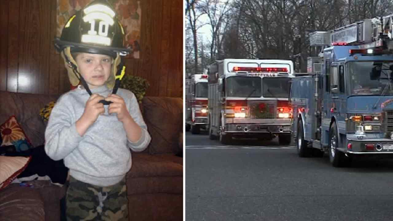 7-year-old honorary firefighter laid to rest