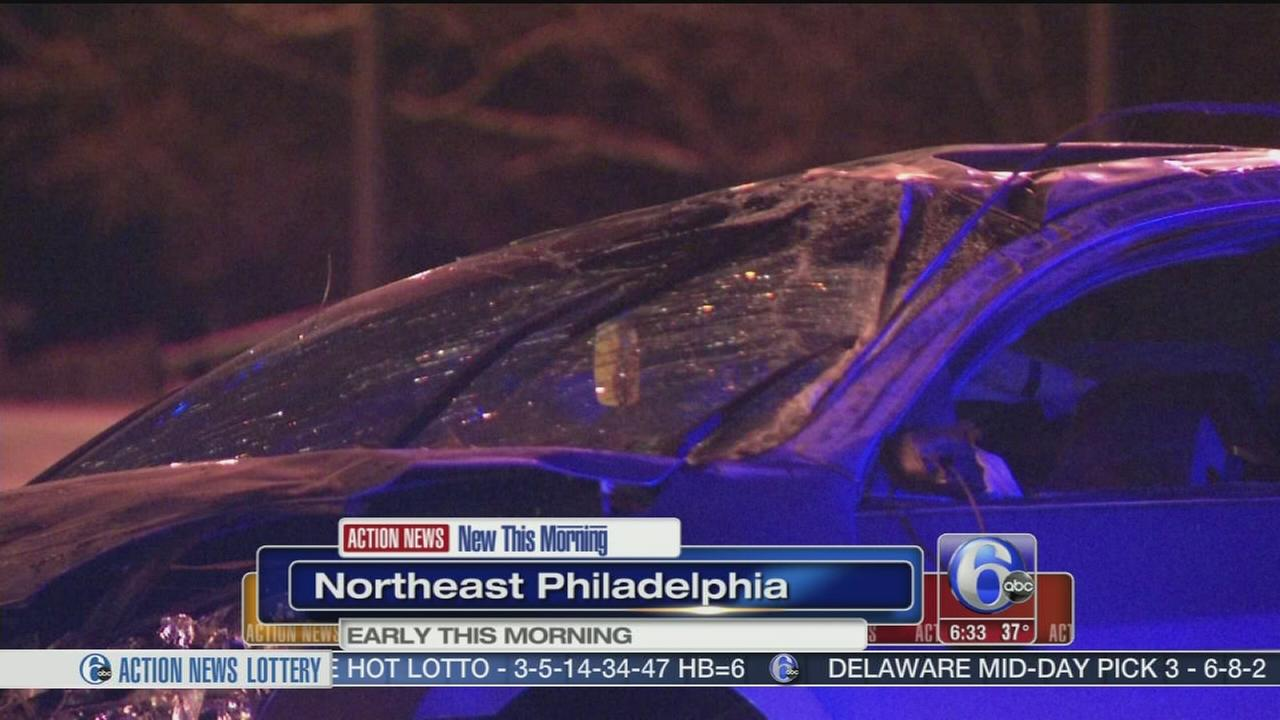 VIDEO: 2 hurt in Roosevelt Blvd. crash