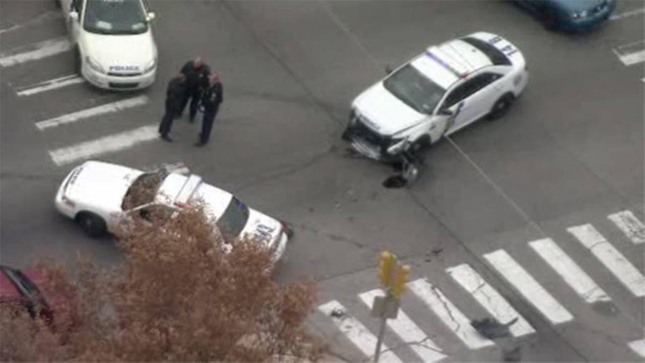 Philadelphia police car involved in crash