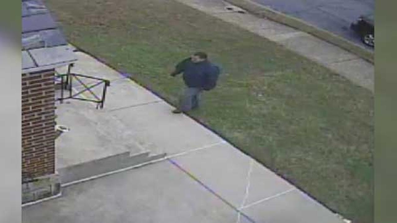 Police are searching for a pair of thieves who stole a package from the front porch of a home in Northeast Philadelphia.