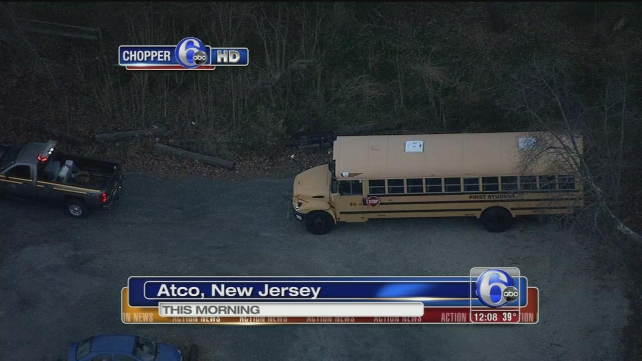 VIDEO: 1 hurt in Atco school bus crash