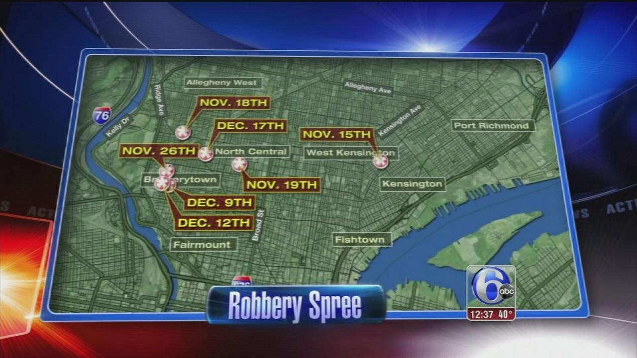 VIDEO: North Philadelphia robbery spree