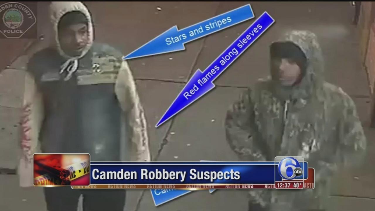 VIDEO: Camden robbery suspects