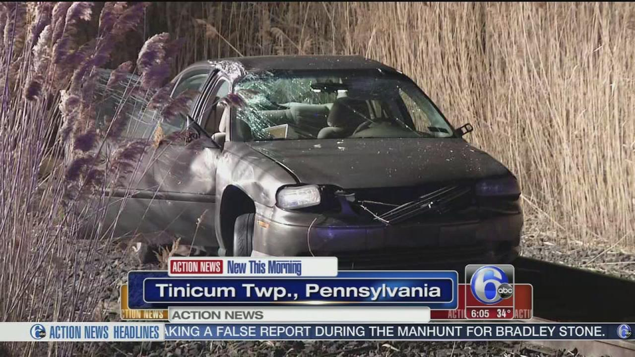 VIDEO: Rollover crash in Tinicum Twp.