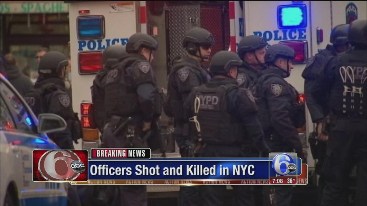 VIDEO: 2 NYC officers dead in ambush shooting in cruiser