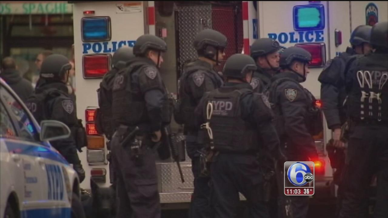 VIDEO: Philadelphia police react to NYC shootings