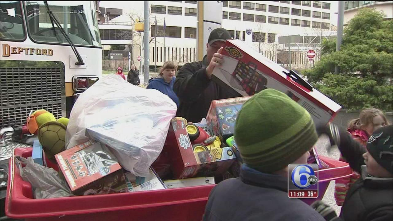 VIDEO: Toy drive brings lots of gifts for CHOP patients