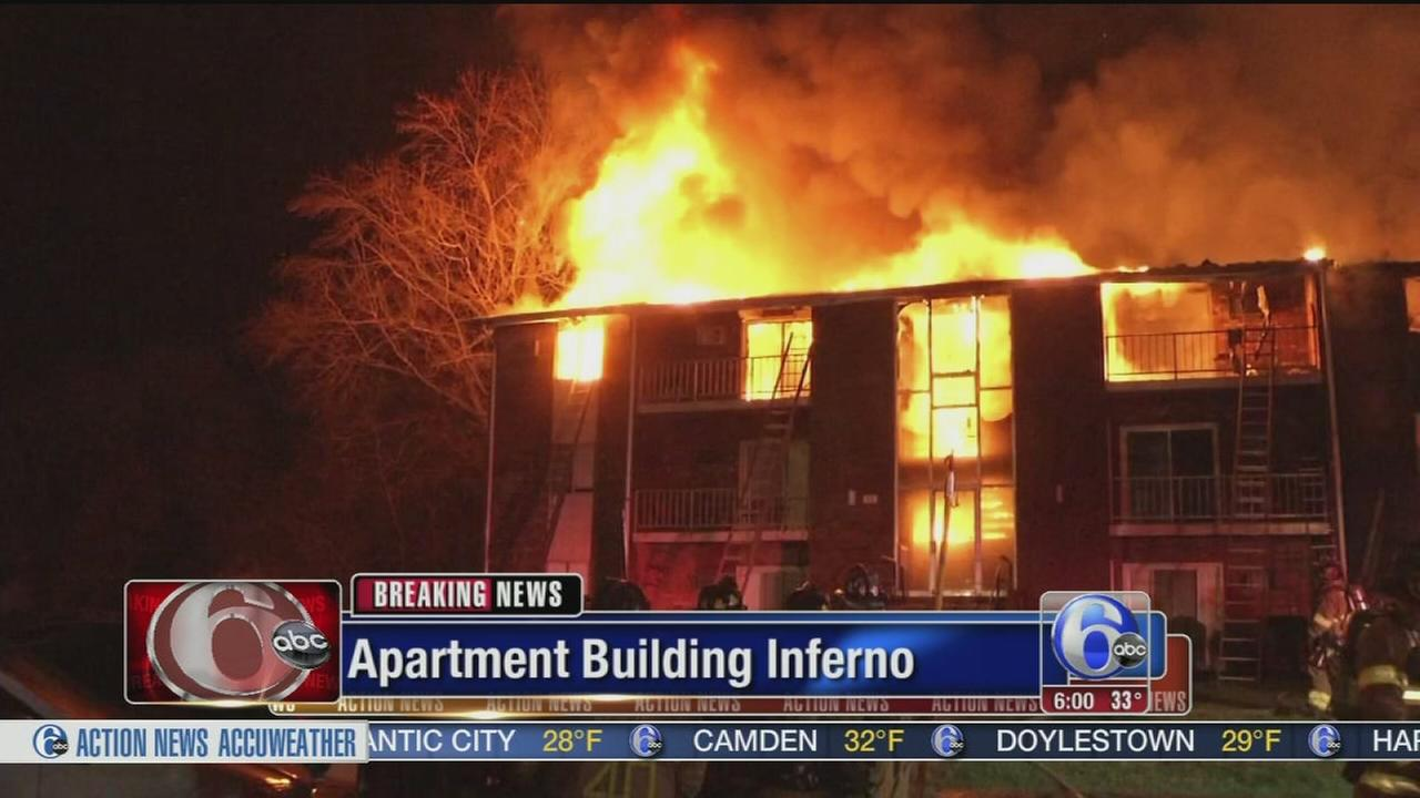 VIDEO: Apartment fire inferno