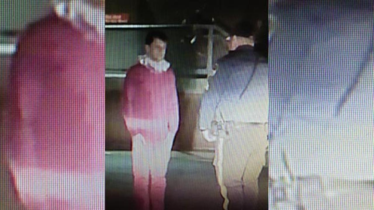 In this image taken from video and provided by the Riverdale, N.J. Police Department, Brian Chellis, 23, of Cedar Grove, N.J. talks with a Riverdale police officer.