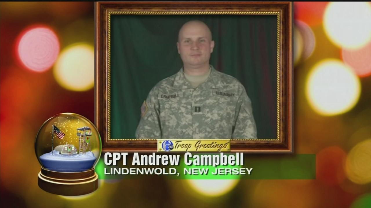 Troop Greeting: CPT Andrew Campbell