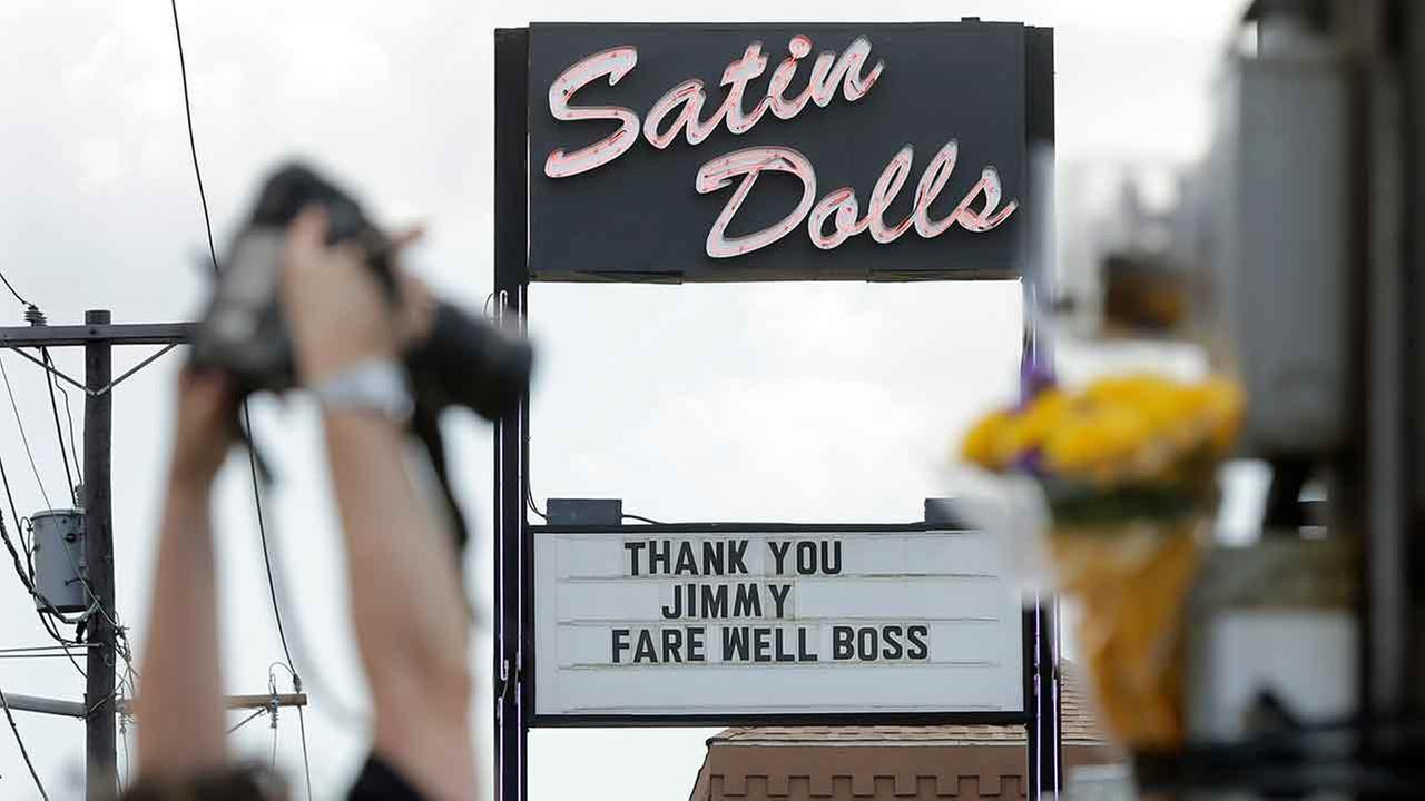 This June 20, 2013 file photo shows the exterior of Satin Dolls, in Lodi, N.J., the location for the Bada Bing Club on the HBO series The Sopranos.