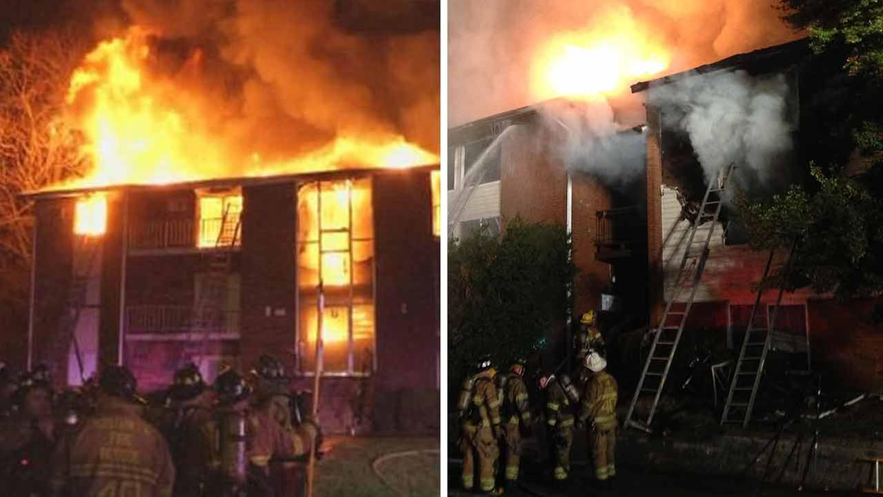 Fires erupt inside 2 apartment complexes in Claymont, Del.