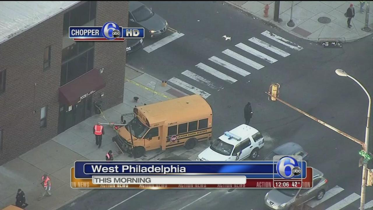 VIDEO: 2 schools buses crash in West Philadelphia