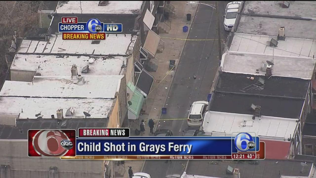 VIDEO: Child, 3, possibly shot in Grays Ferry
