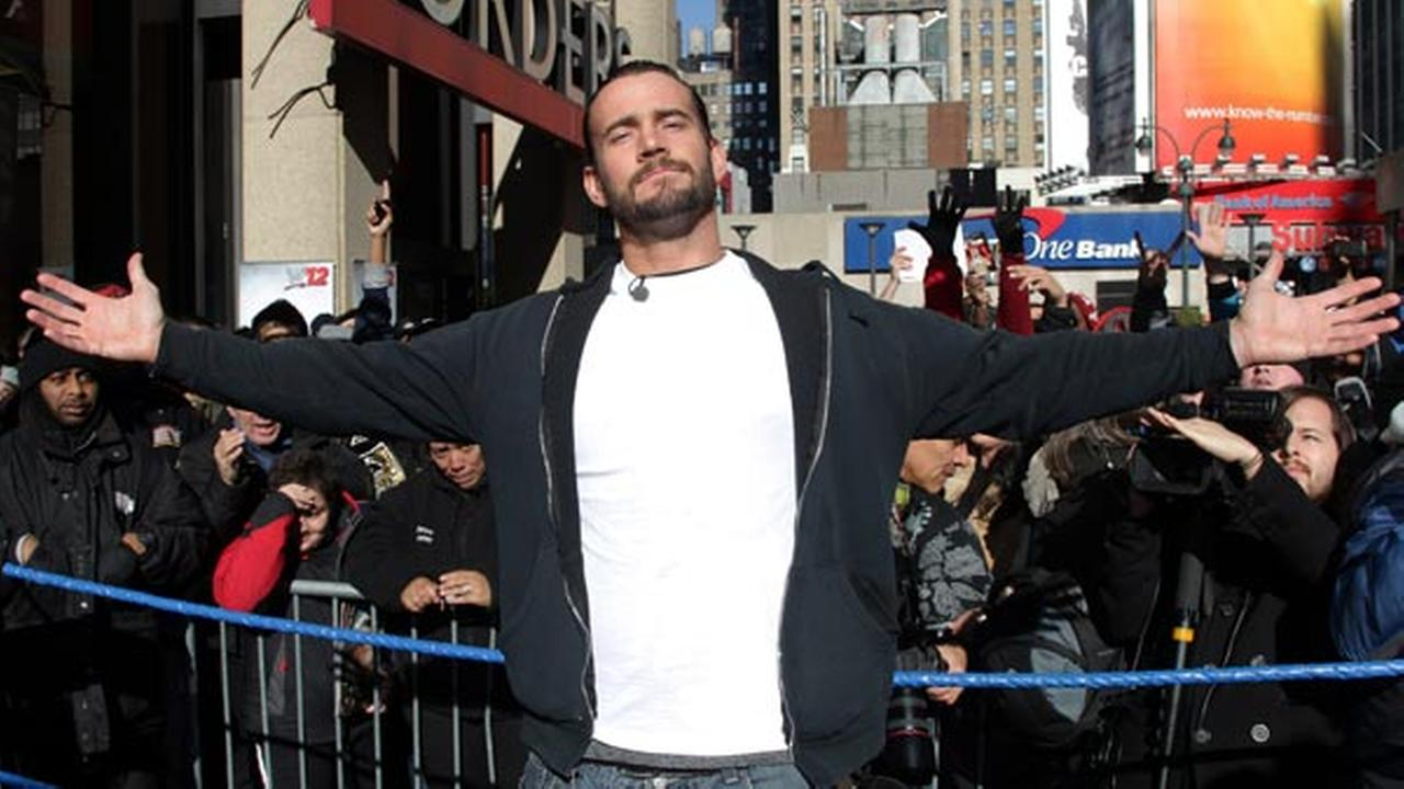 WWE Superstar CM Punk poses at Madison Square Garden, Friday, Nov. 18, 2011, in New York.