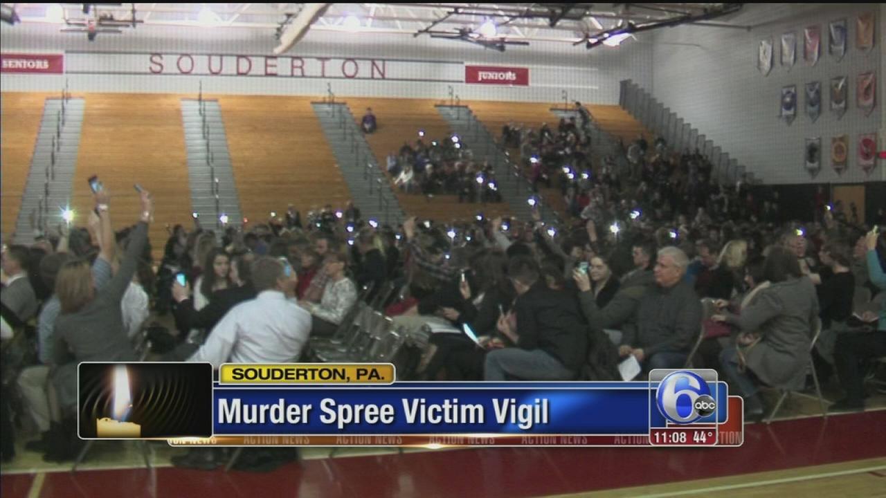 VIDEO: Murder spree vigil