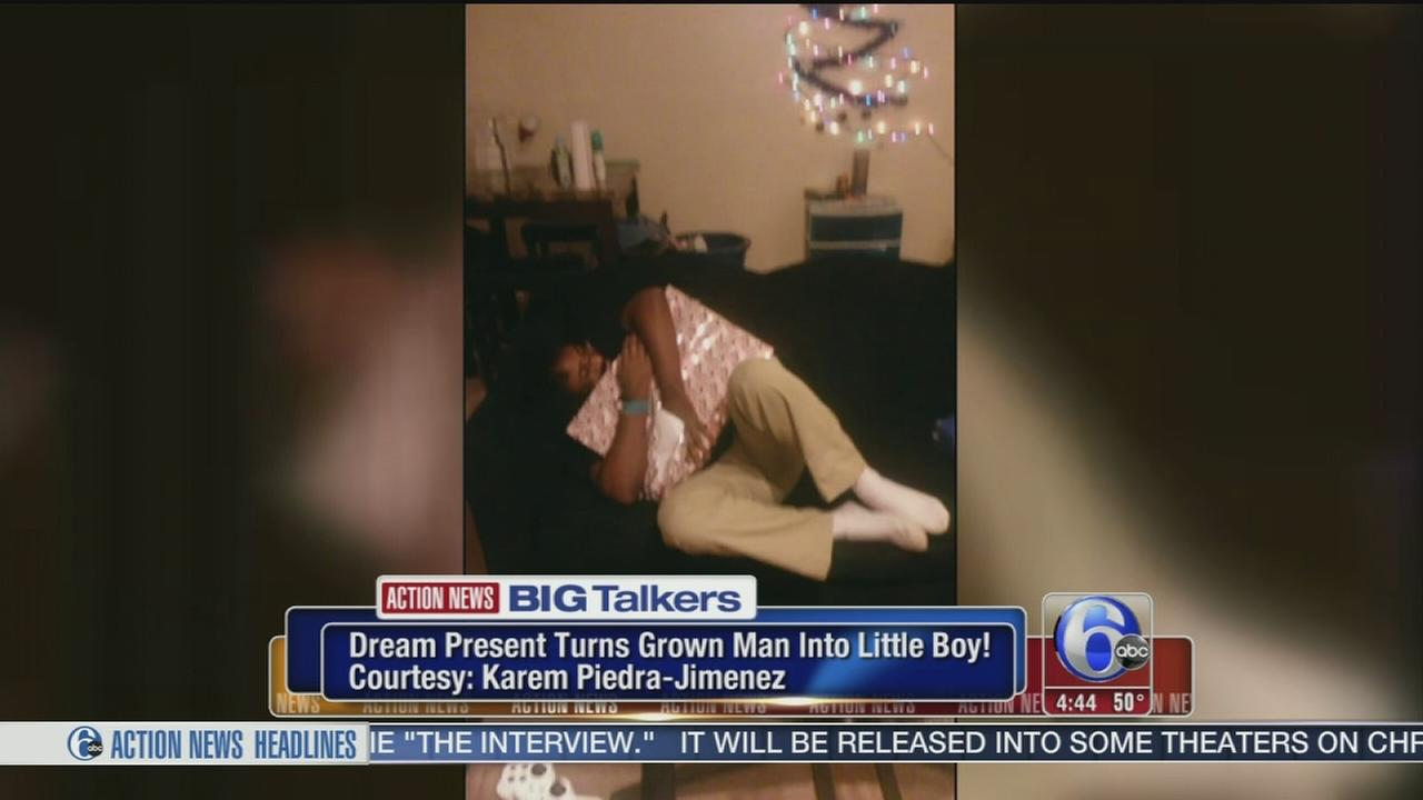 VIDEO: Dream present turns grown man into little boy