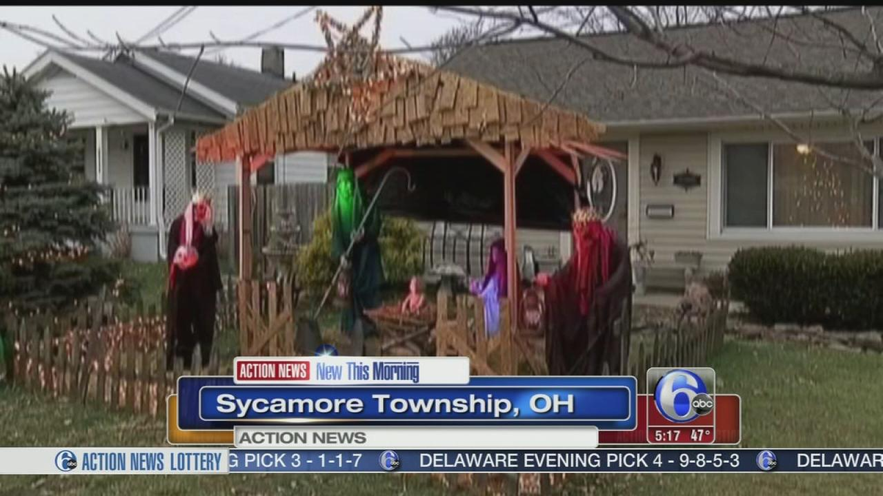 VIDEO: Christmas display shows signs of the Grinch