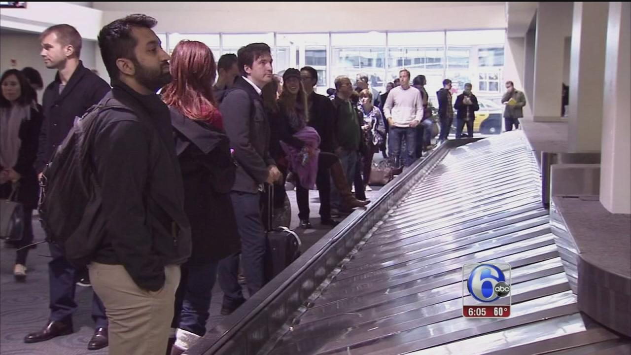 VIDEO: Rain brings some delays for holiday travelers