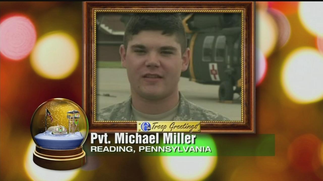 Troop Greeting: Pvt. Michael Miller