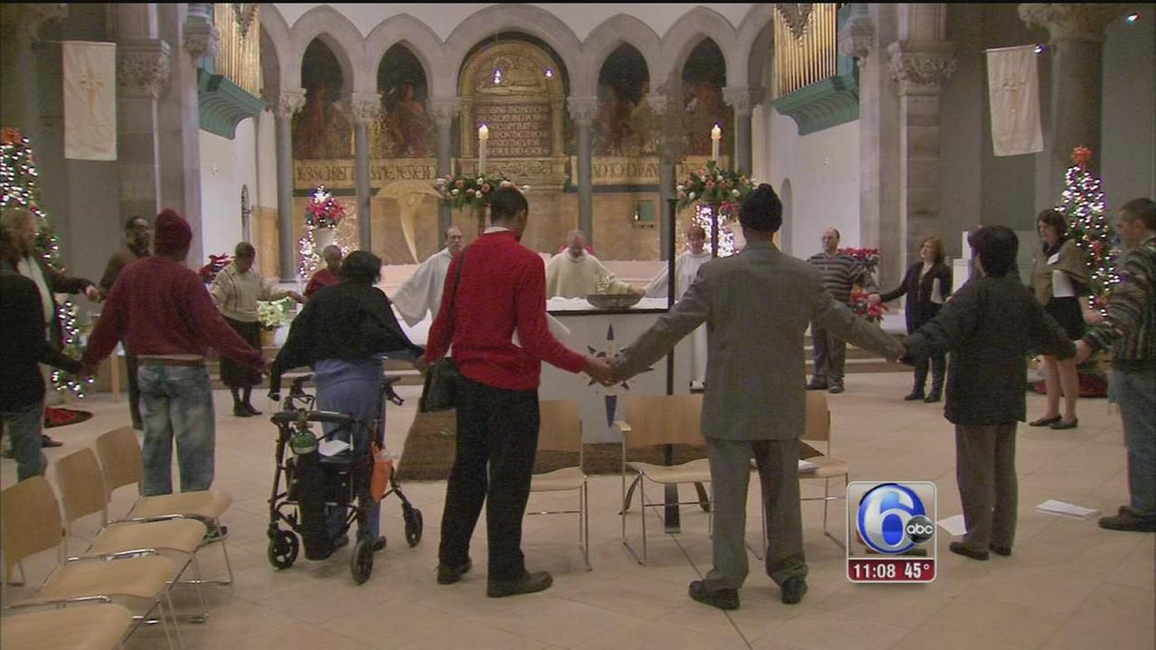 VIDEO: Christmas services at the Episcopal Cathedral in West Philadelphia