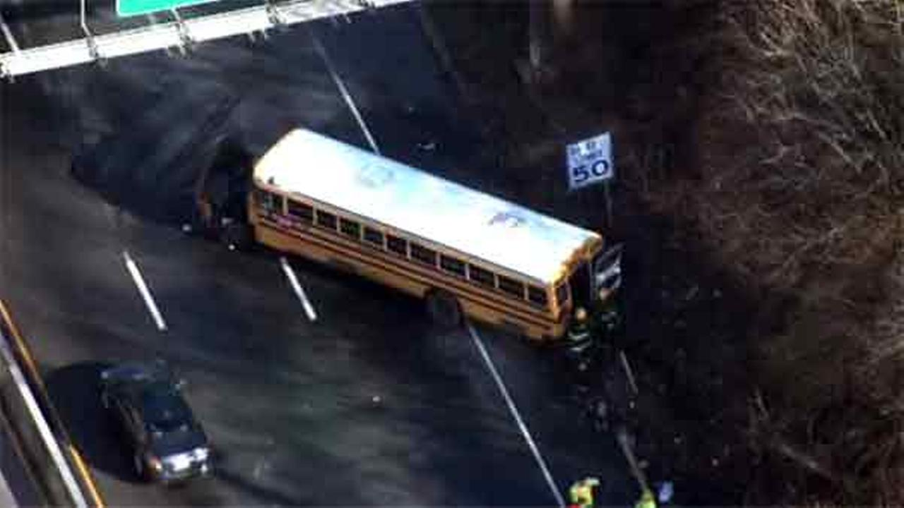 School bus crashes into pole on Roosevelt Boulevard Extension