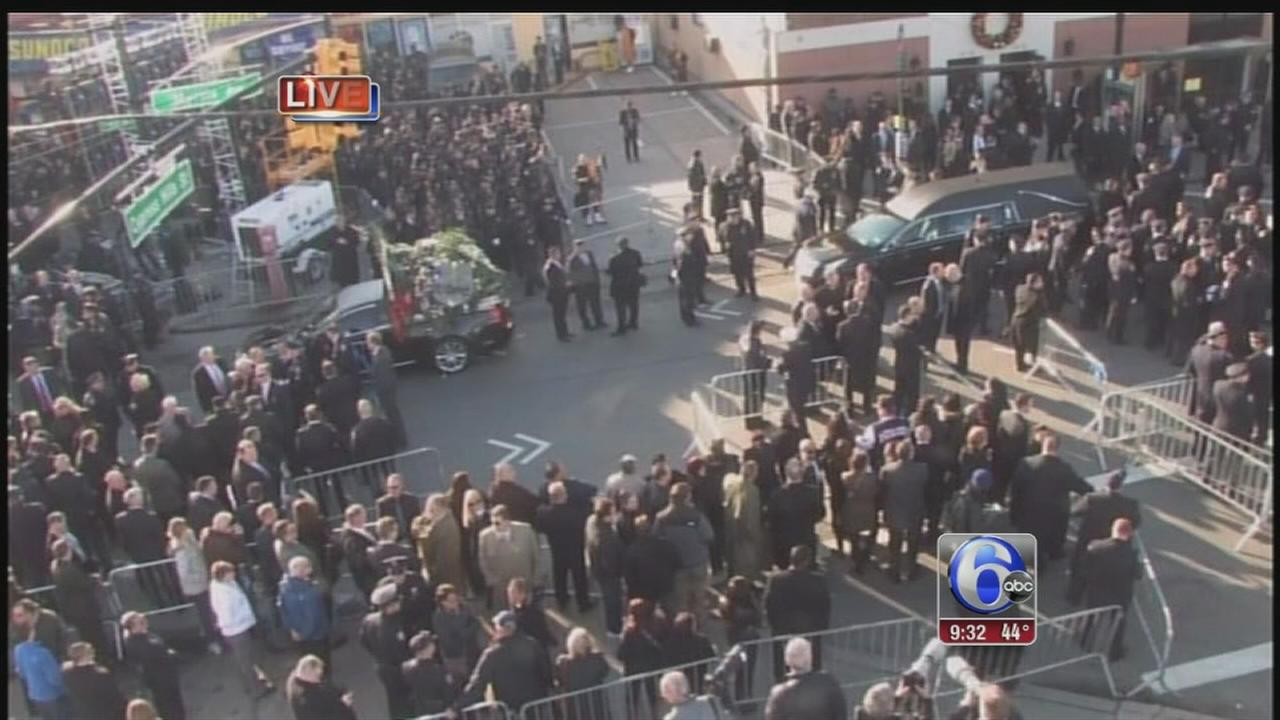 VIDEO: Mayor, VP to speak at slain NYPD officers funeral