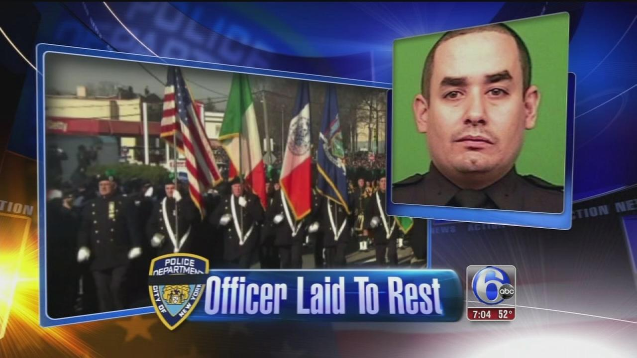 VIDEO: NYC Officer Rafael Ramos mourned at funeral