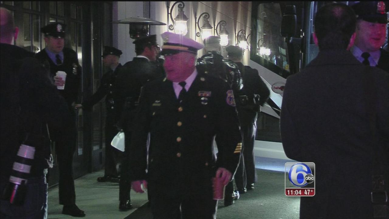 VIDEO: Hundreds of local police pay respect to slain NYPD officer