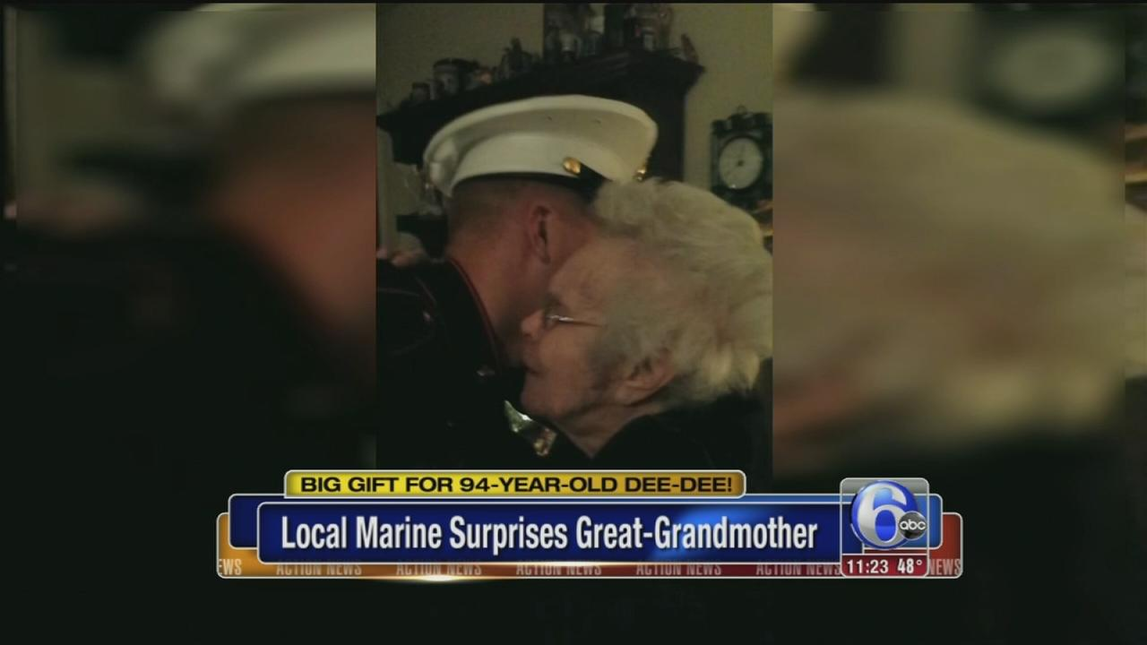 VIDEO: NJ marine surprises great-grandmother for Christmas