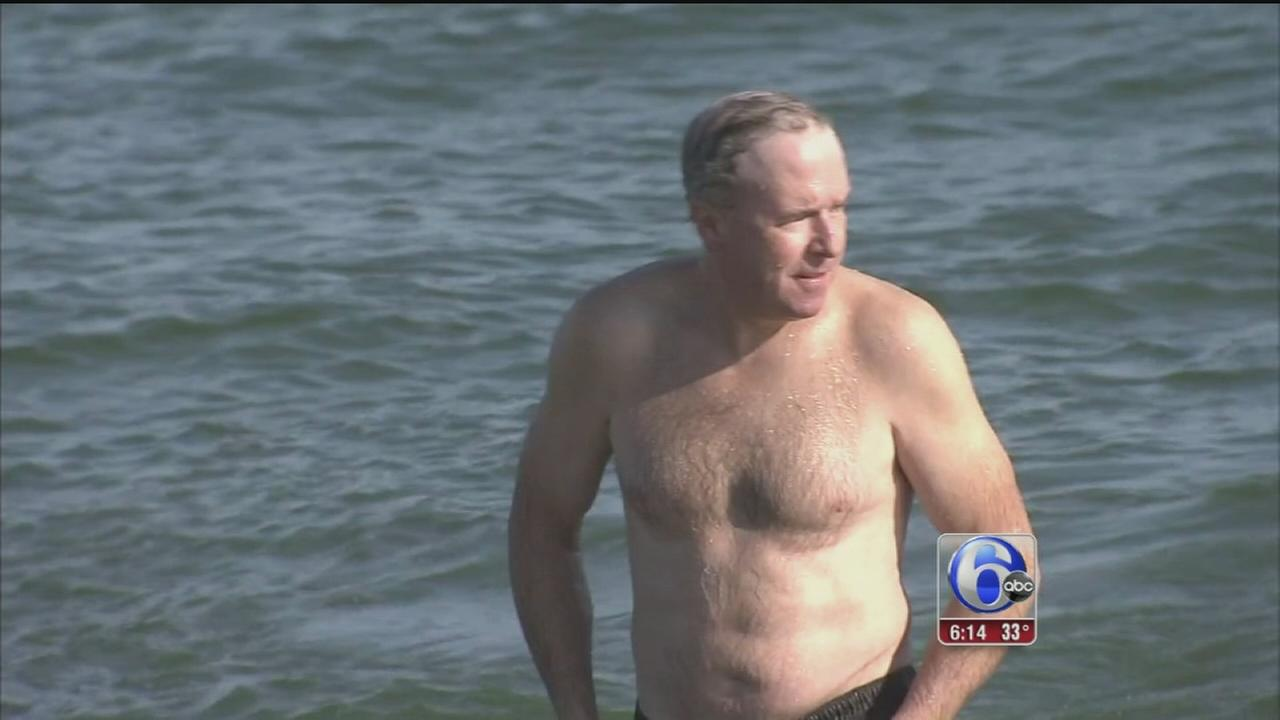 VIDEO: Ocean County man to take a polar bear plunge everyday