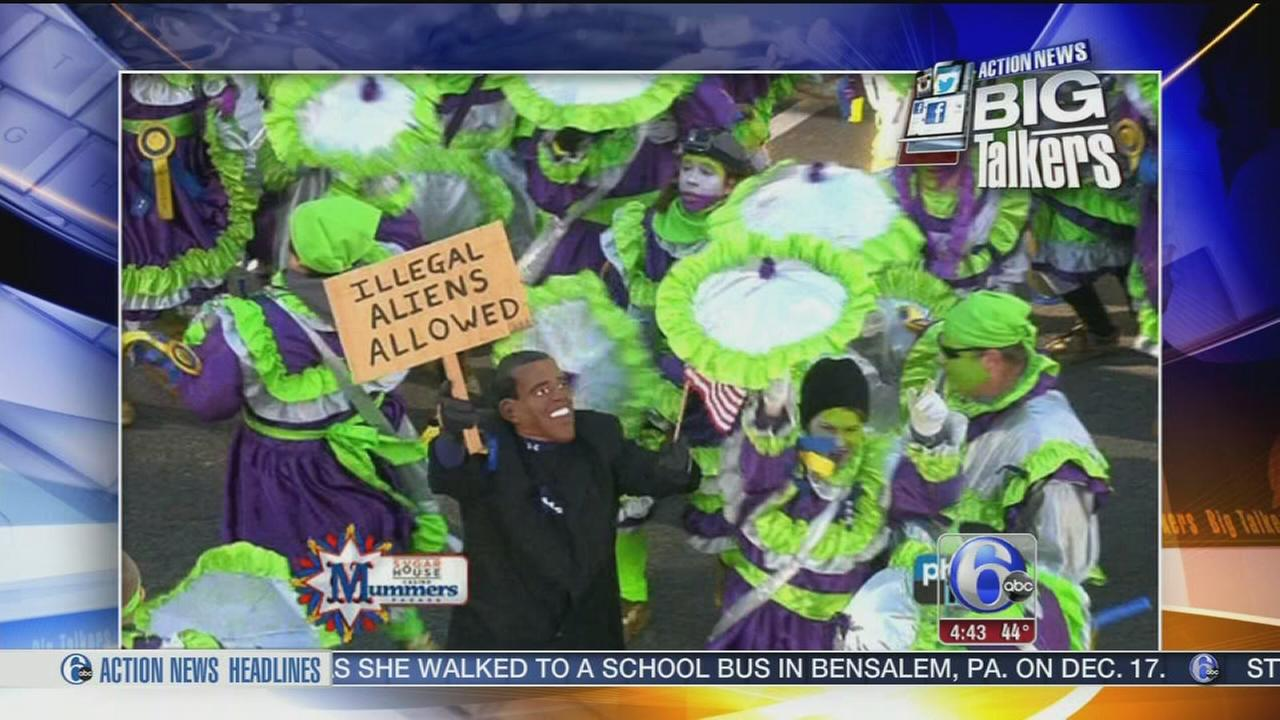 VIDEO: Controversial signs during Mummers parade