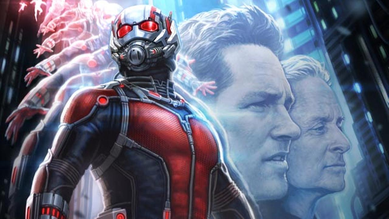 This photo released by Disney/Marvel shows the poster for the film, Ant-Man, revealed at Comic-Con International Convention on Friday, July 25, 2014, in San Diego.