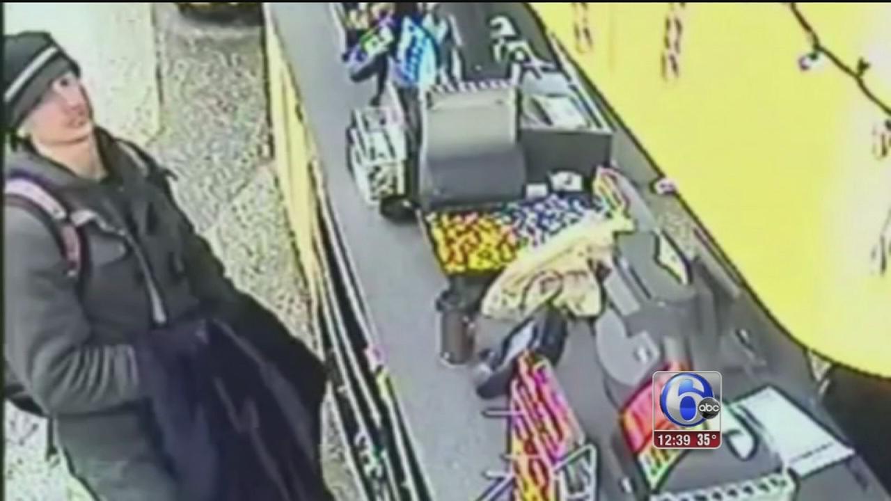 VIDEO: Haddonfield burglary suspect spotted in Philly Wawa