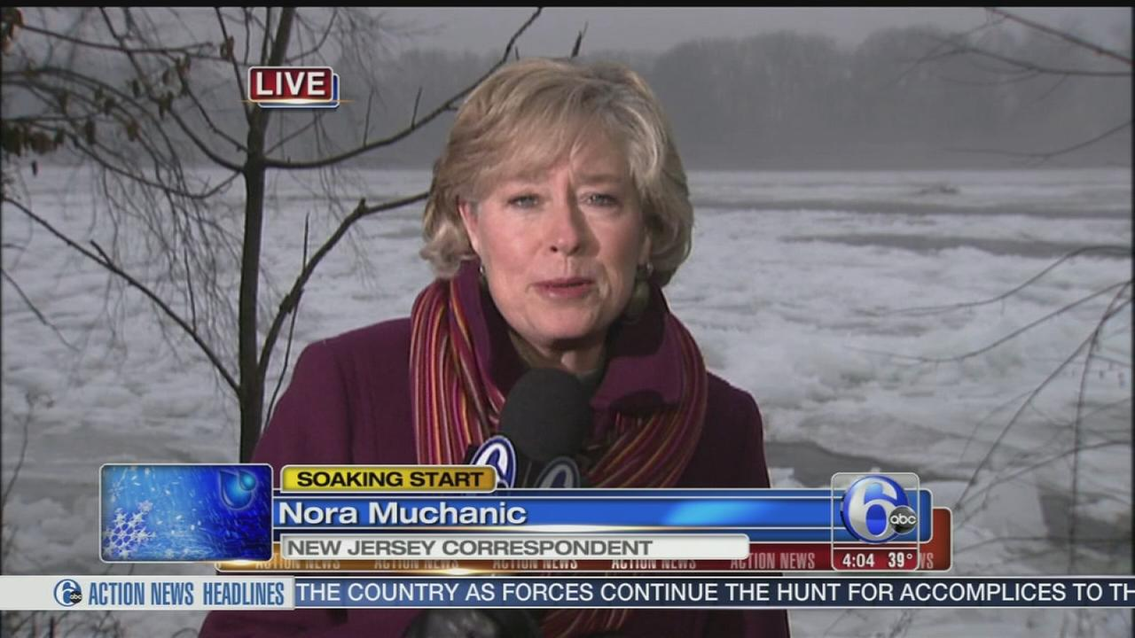 VIDEO: Nora Muchanic reports on the soggy day in N.J.