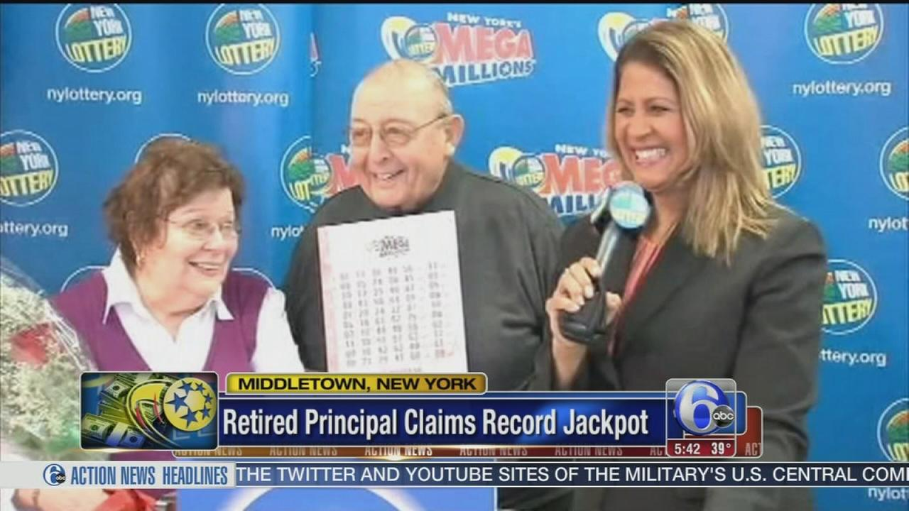 VIDEO: Retired principal claims jackpot
