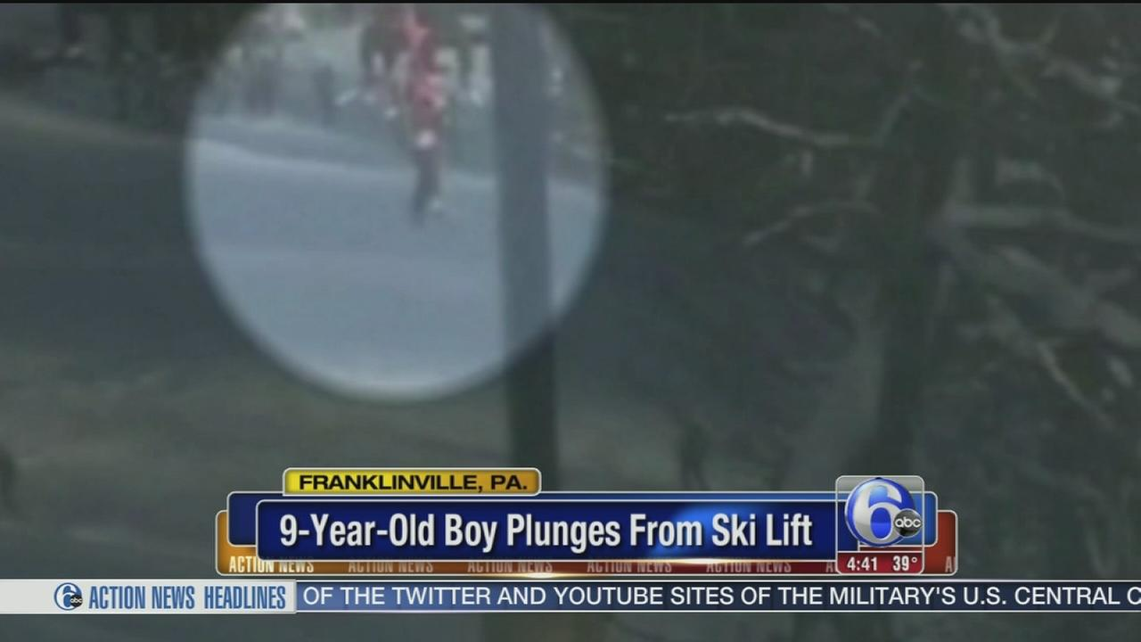 VIDEO: 9-year-old plunges from ski lift