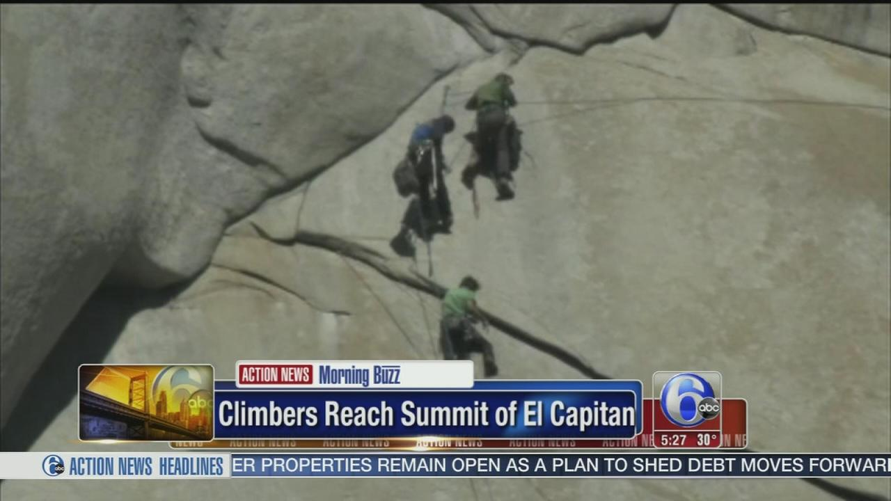 VIDEO: Climbers reach summit of El Capitan