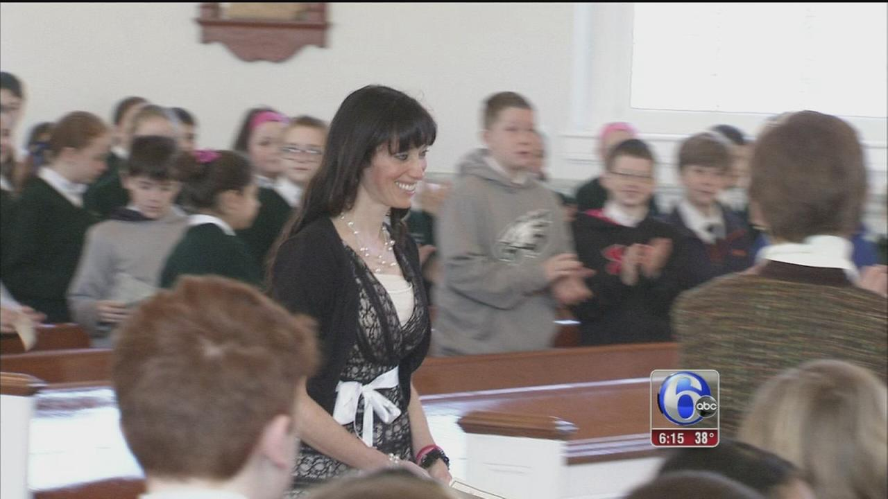 VIDEO: Students surprise Catholic teacher who won natl award