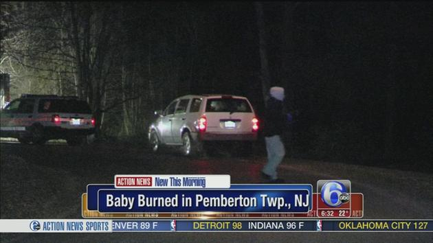 VIDEO: Newborn found on fire on Burlington County road