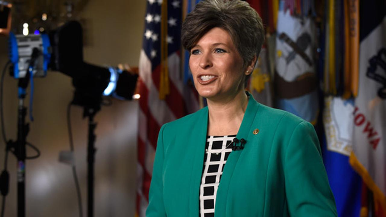 Sen. Joni Ernst, R-Iowa rehearses her remarks for the Republican response to President Obamas State of the Union address, Tuesday, Jan. 20, 2015, on Capitol Hill in Washington.