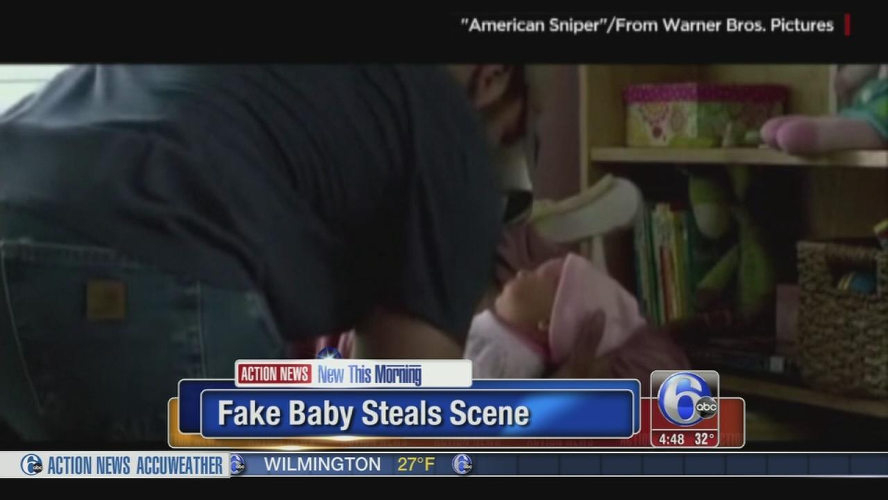 VIDEO: Fake baby steals scene in movie