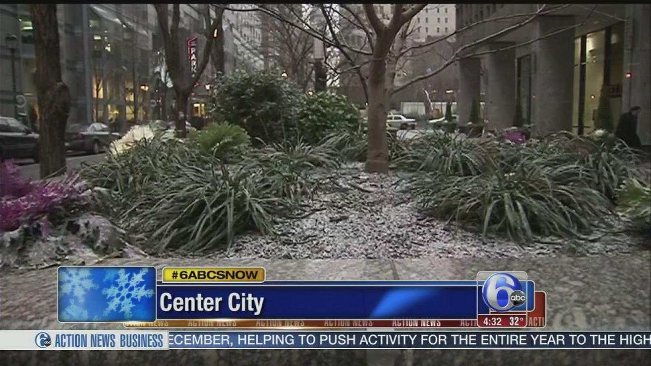 VIDEO: Kenneth Moton reports on snow in Center City