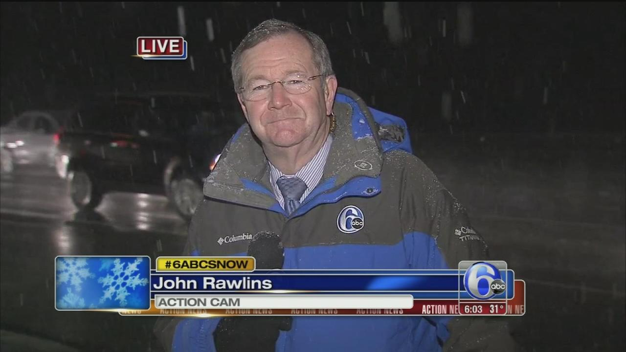 VIDEO: John Rawlins reports on snow in Pa.