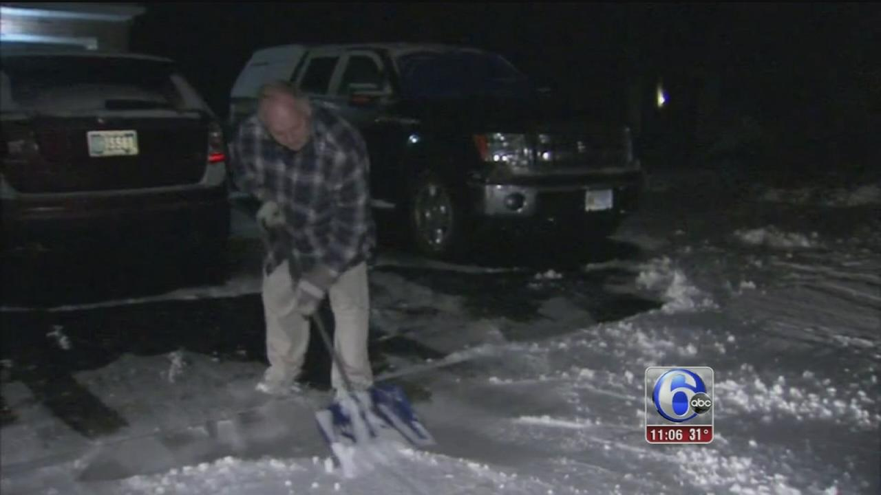 VIDEO: Dann Cuellar reports on snow in Delaware