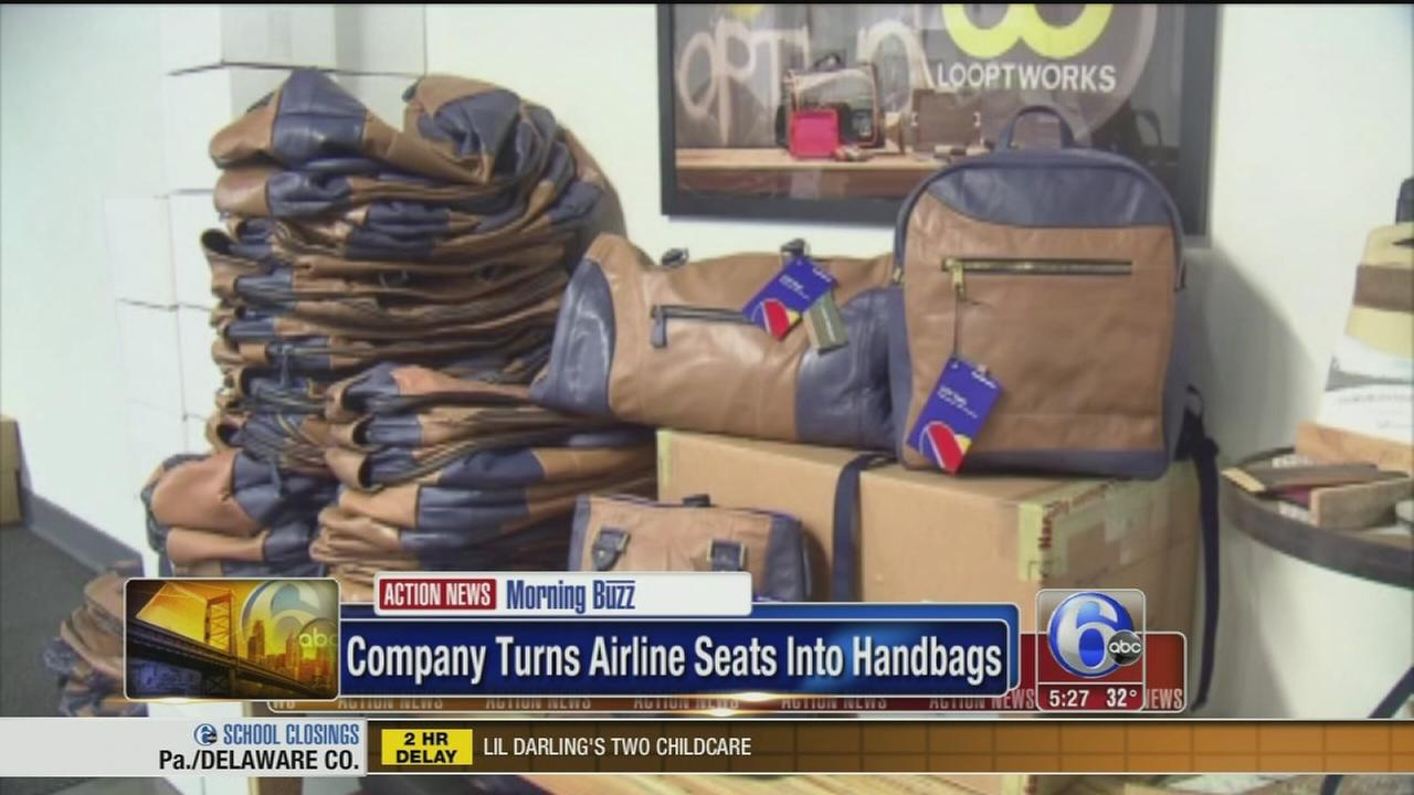 VIDEO: Airline seats turned into handbags