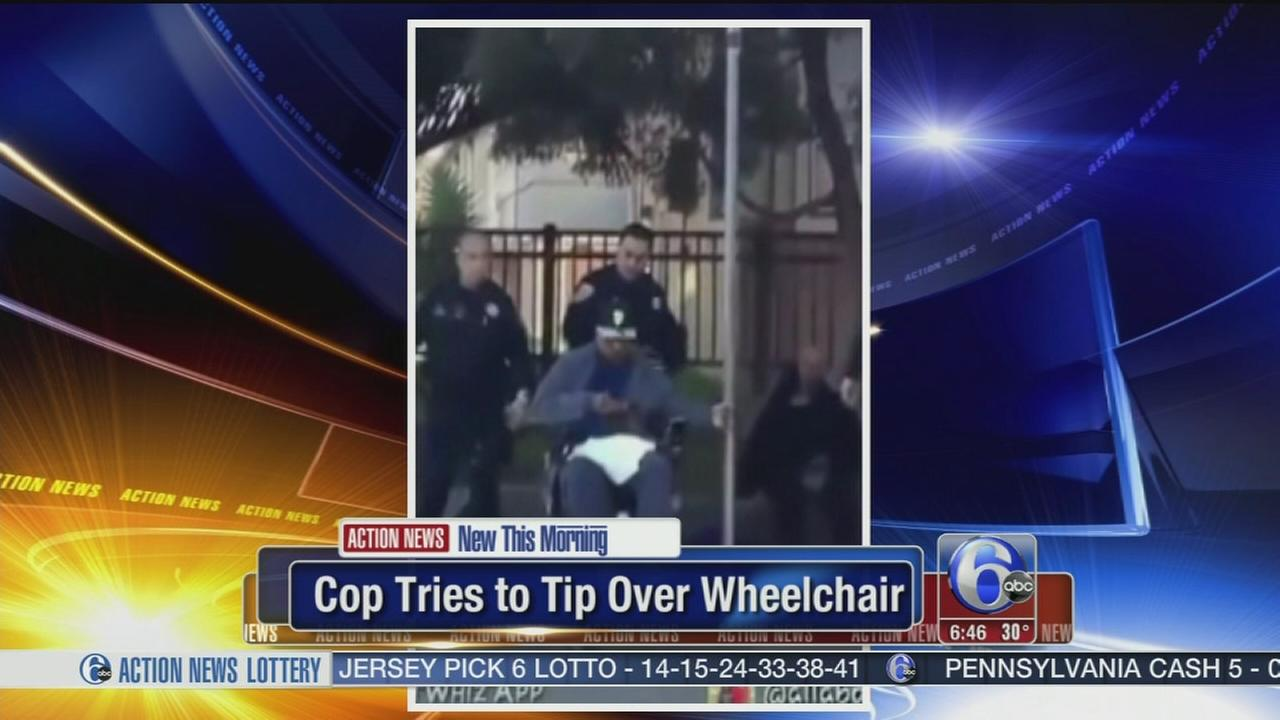VIDEO: Paralyzed man: Cop tries to tip over wheelchair
