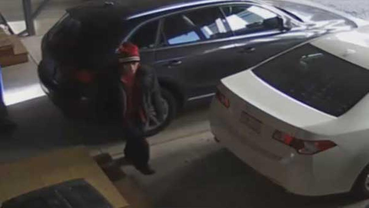 Philadelphia police are looking for a thief who was caught on surveillance stealing trash cans in the citys Northern Liberties neighborhood.