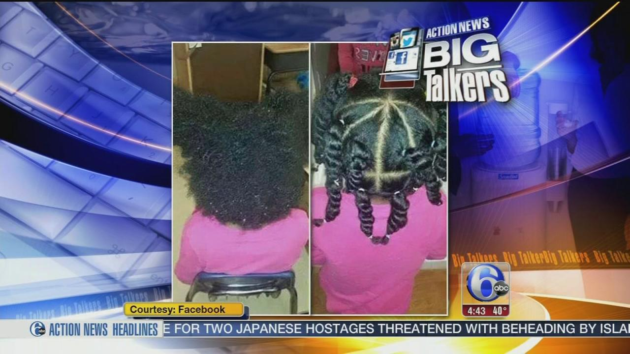 VIDEO: Teacher styles students hair