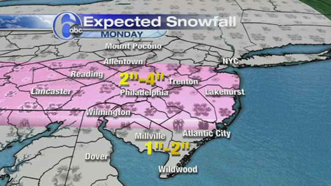 UPDATED MAPS: Sunday nights snow